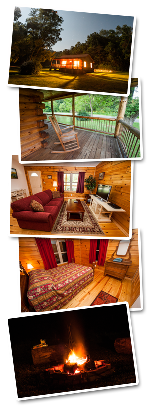 Virginia cabin rental at Fariss Farms